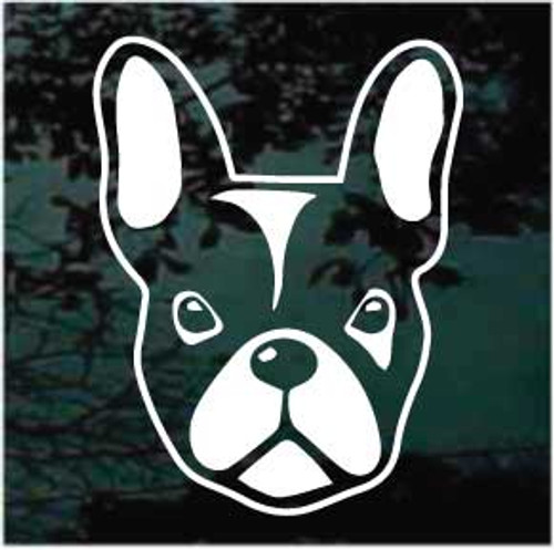 French Bulldog Face Window Decal