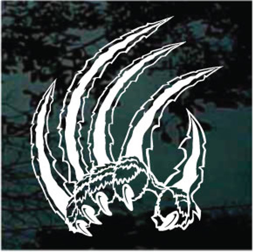 Tiger Claws Ripping Window Decals