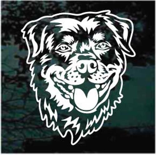 Detailed Rottweiler Head Window Decal