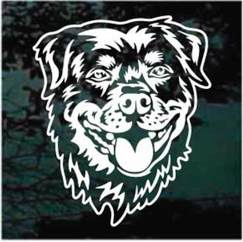 Detailed Rottweiler Head Decals