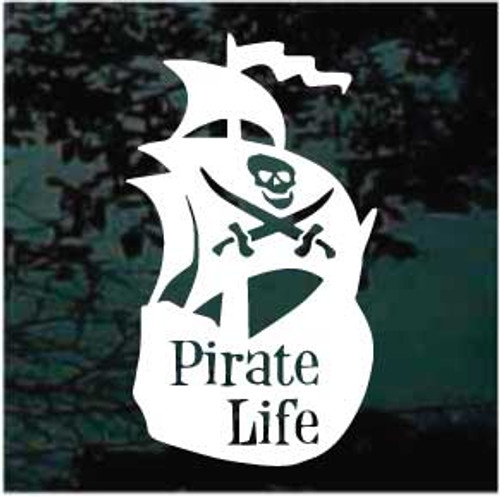 Pirate Life Window Decals