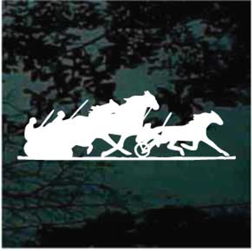 Harness Racing Silhouette 03 Decals