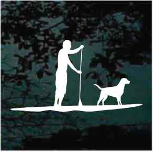 Man Paddleboarding Window Decals