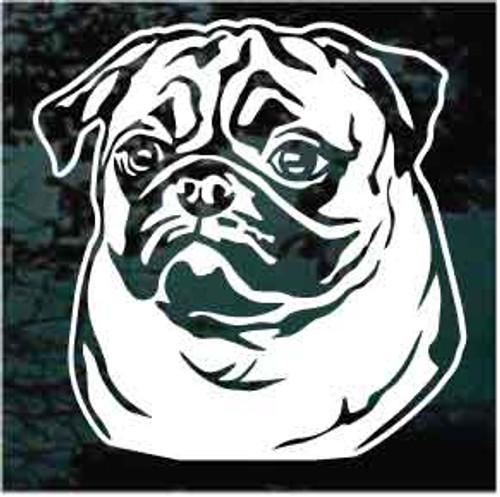 Pug Face Window Decals