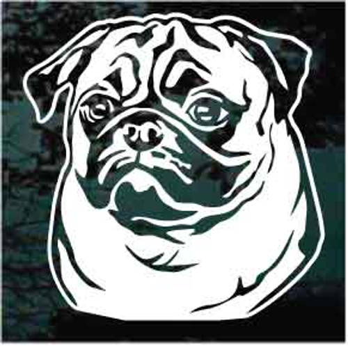 Pug Face Decals