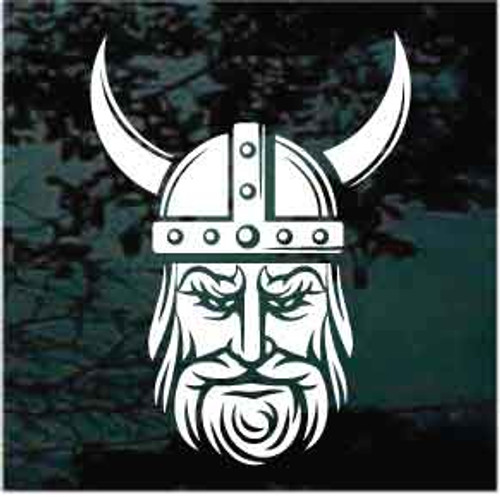 Viking Head Window Decals