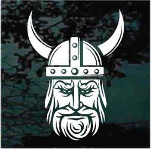 Viking Head Window Decals