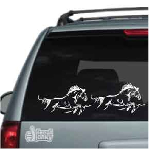 2 Horses Running Car Decal