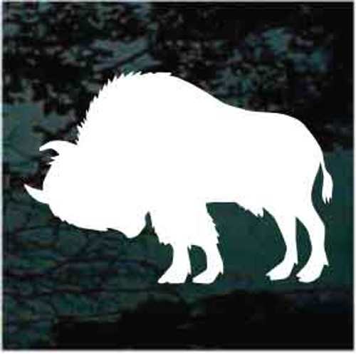 Bison Buffalo Silhouette Window Decal
