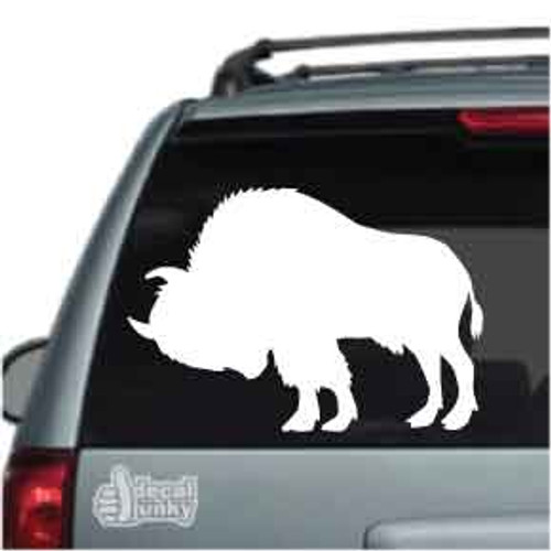 Bison Buffalo Silhouette Car Decal