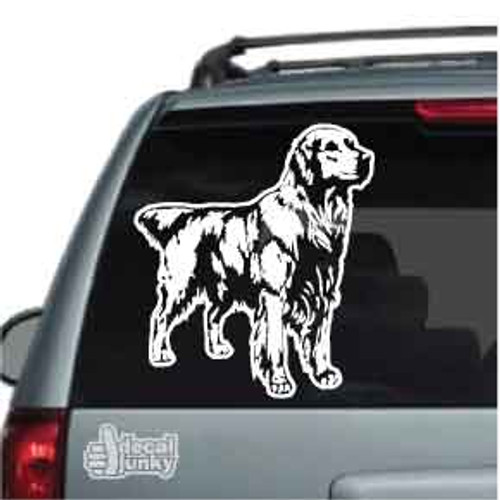 Beautiful Golden Retriever decal for your car window, customize this decal by adding your own text.