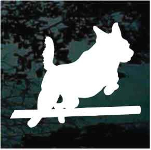 Australian Cattle Dog Agility Jump Window Decal