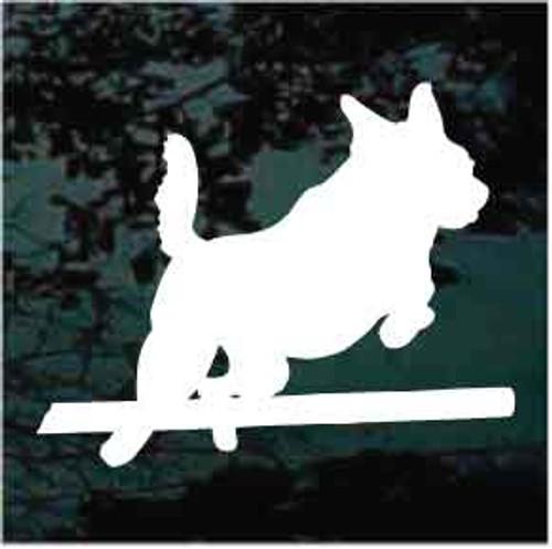 Australian Cattle Dog Agility Jump Window Decal