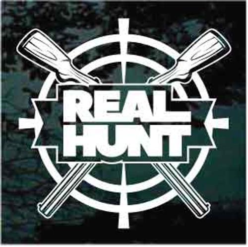 Real Hunt Guns Crossed Decals