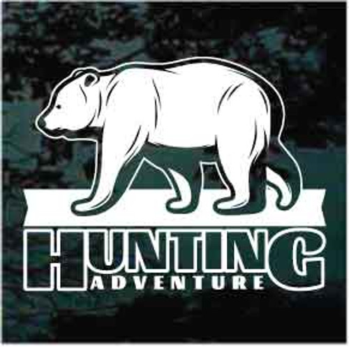 Bear Hunting Adventure Window Decals
