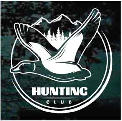 Duck Hunting Club Window Decal