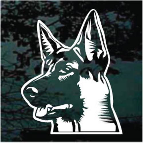 German Shepherd Head Profile Decals