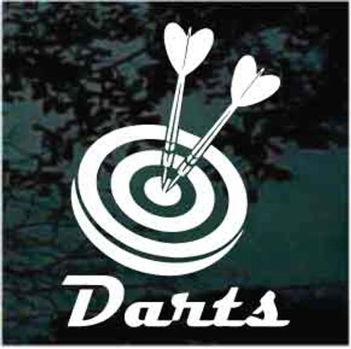 Dart Game Window Decal