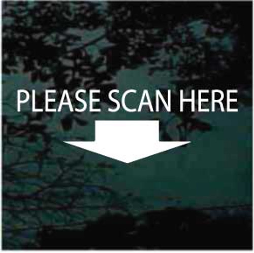 Please Scan Here key fob scanner decal.