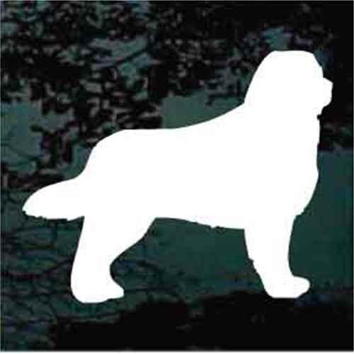 Bernese Mountain Dog Silhouette Window Decal