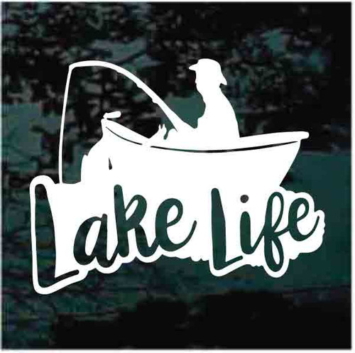 Lake Life Boat Fishing Decals