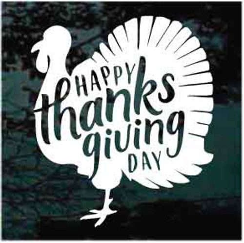 Happy Thanksgiving Day Turkey Window Decal