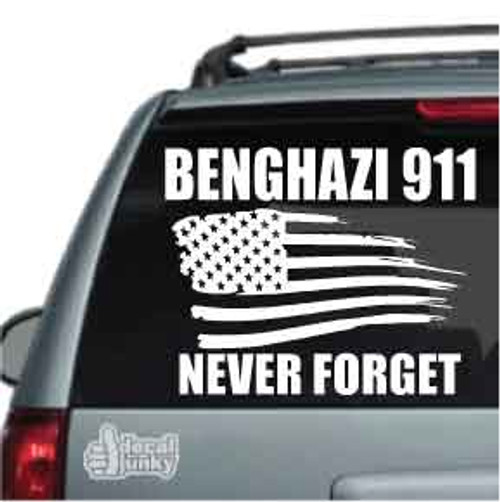 Benghazi 911 Never Forget Car Decals