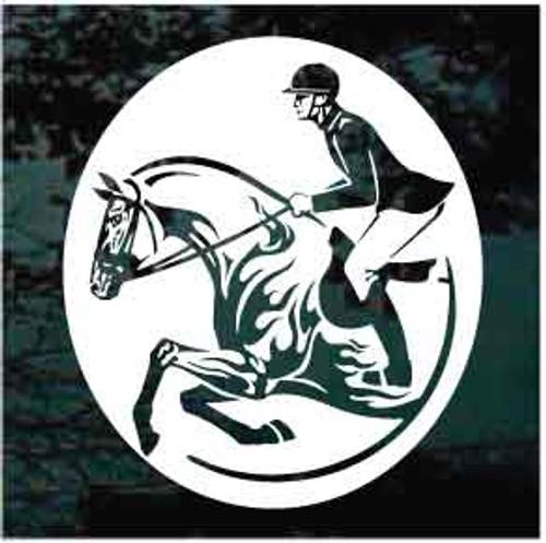 Fancy Walking Horse English Hunter Jumper Horse Rider Custom Vinyl Decal