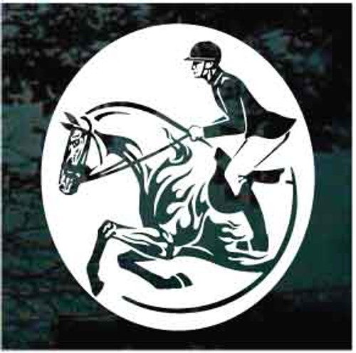 Horse Jumping Competition Oval Decals