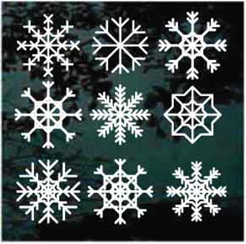Snowflakes Set Of 9
