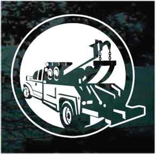 Tow Truck Wrecker Window Decal