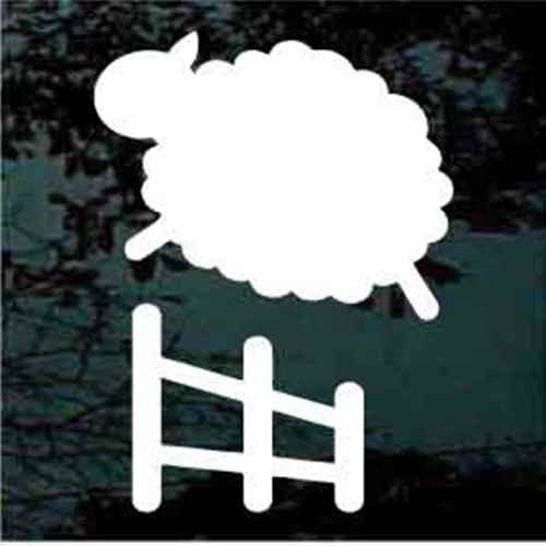Sheep Jumping The Fence Window Decals