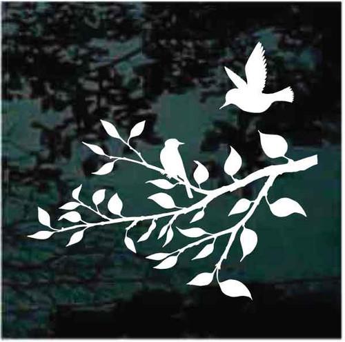 Bird On Tree Branch Decals