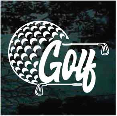 Golf Ball & Golf Clubs Design Decals