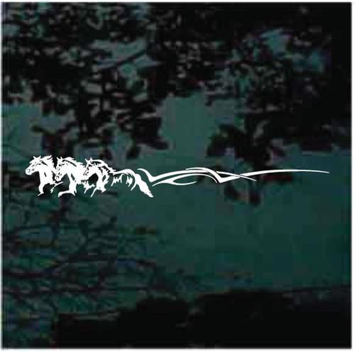 Three Horse Stripe Horse Trailer Decals