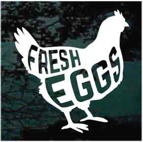 Fresh Eggs Chicken Window Decals