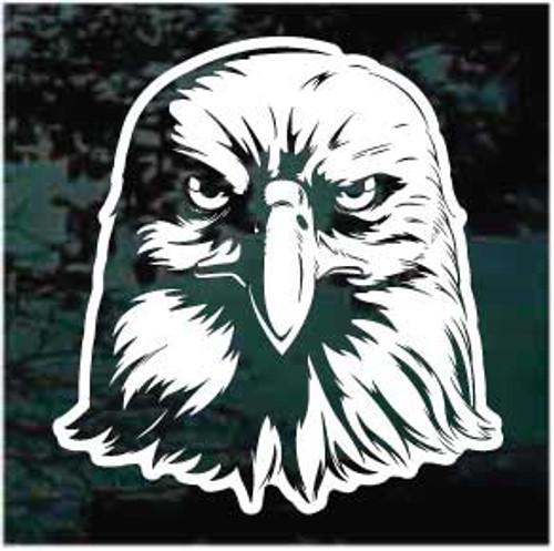 Eagle Head Facing Window Decal