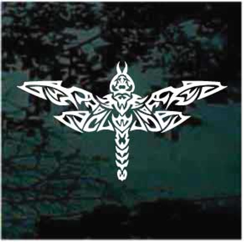 Tribal dragonfly Tattoo Window Decals