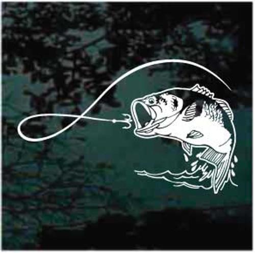 Hook & Line Bass Fishing Decals