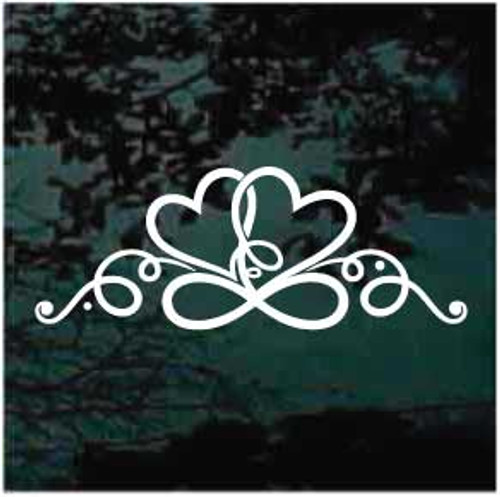 Infinity Hearts Design Window Decal
