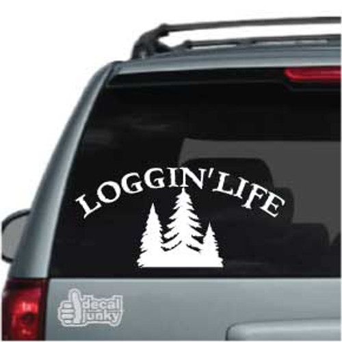 Logging Life With Trees Car Decal