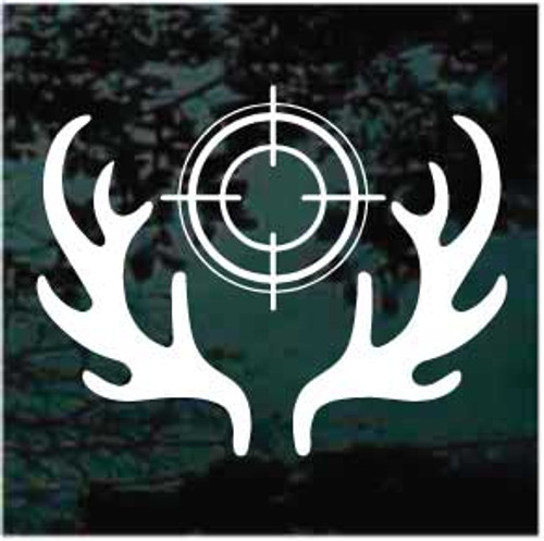 Deer Hunting Antlers With Scope Decals