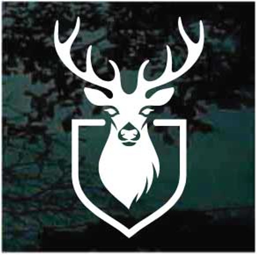 Deer Head Shield Mount Decals