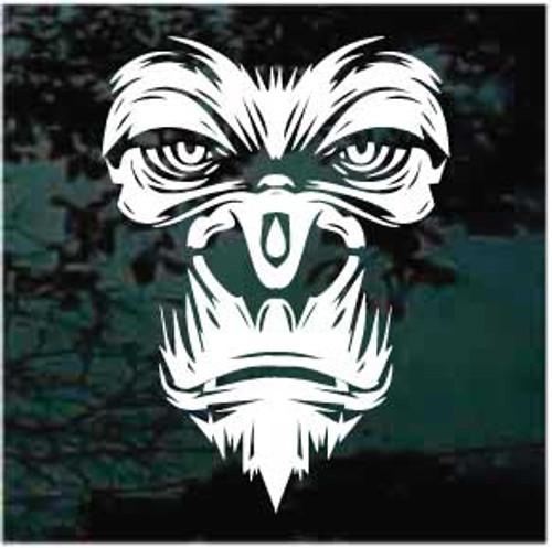 Mean Gorilla Face Decals