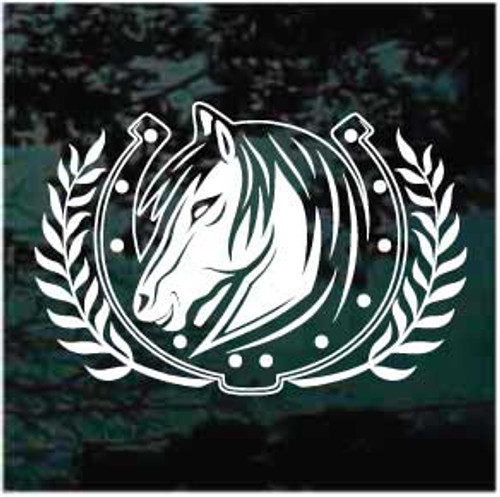 Horse Head Horseshoe Wreath Decals
