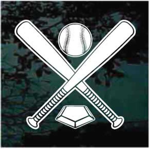 Baseball Softball Team Window Decals