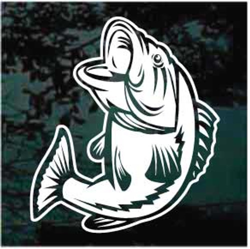 Largemouth Bass Fishing Fish Decals