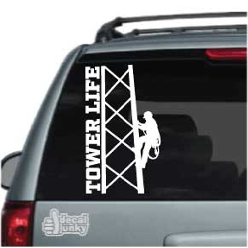 Tower Life Tower Climber Car Decal