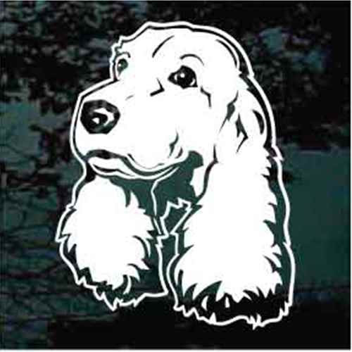 Cocker Spaniel Head Window Decal