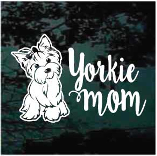 Yorkie Mom Window Decal